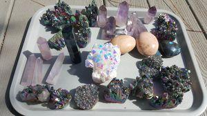 Crystals Flourite,labradorite,quartz,moonstone for Sale in San Diego, CA
