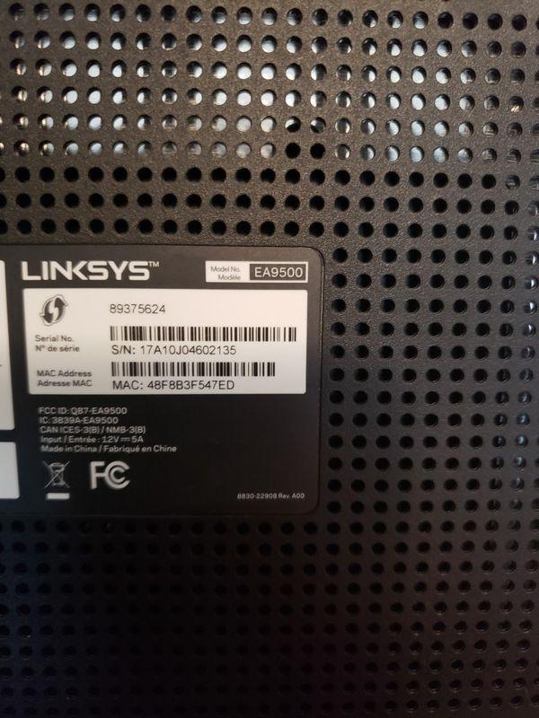 Linksys ea9500 gaming gigabit router