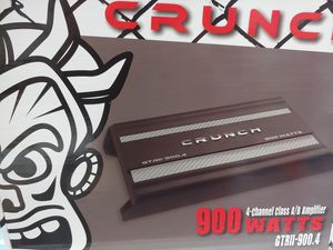 Car amplifier : CRUNCH 900 watts 4 channel built in crossover mosfet power supply for Sale in Bell Gardens, CA