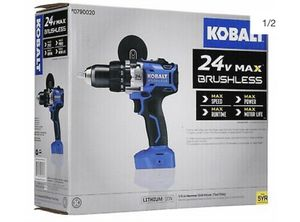 Kobalt 24v brushless drill battery charger battery and bag for Sale in Puyallup, WA