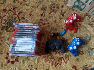PS3 Games + 3 Controllers for Sale in Portland, OR