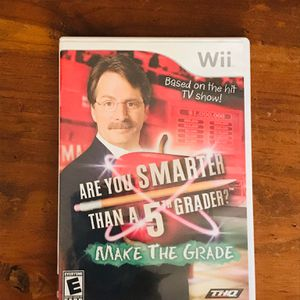 Nintendo Wii are you smarter than a fifth grader make the grade video game for Sale in Houston, TX