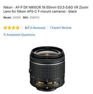 Nikon Digital camera D3000 with extension lense for Sale in Monroe, WA