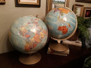 2x vintage globes for Sale in Seattle, WA
