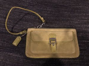 Coach Light Green Suede Wristlet for Sale in New York, NY