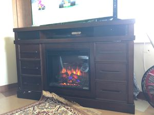 TV stand fireplace speakers Bluetooth all in one for Sale in Minneapolis, MN