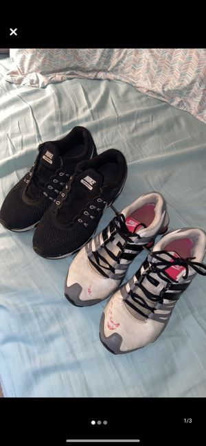 Two pair of Nike tennis shoes for Sale in Dalton, GA