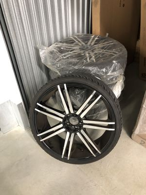 "22"" Borghini Wheels B20 Black Machined Rims for Sale in Elkridge, MD"