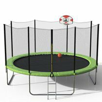 14 ft new trampoline in box with basketball hoop for Sale in Goodyear, AZ