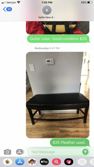 Brown Pleather Bench for Sale in Gig Harbor, WA