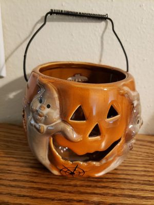 Halloween/Pumpkin Ceramic Candle Holder for Sale in Norfolk, VA