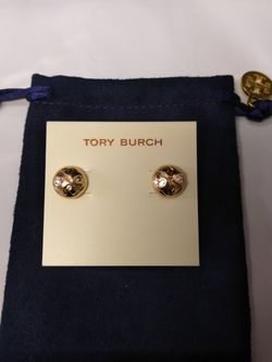 Tory Burch Gold Stud Earrings for Sale in Alexandria,  VA