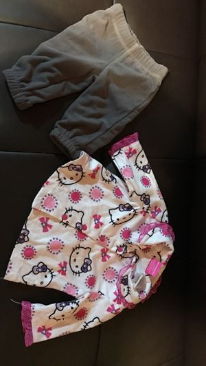 Toddler's gray pants & hello kitty pj top for Sale in North Bergen, NJ