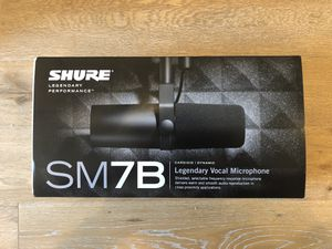 Shure SM7B cardioid dynamic microphone for Sale in Los Angeles, CA