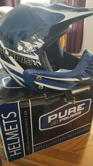 New Polaris blue helmet for Sale in Yorkville, OH