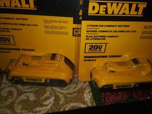 2 batería s. Dewalt 2 ah for Sale in Oak Forest, IL