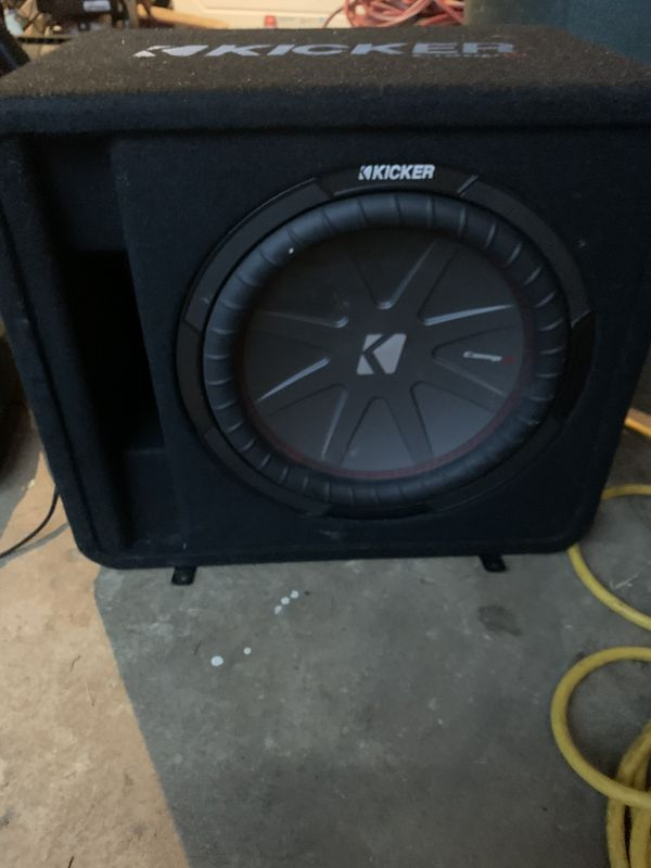 Kicker subwoofer and Rockford amplifier