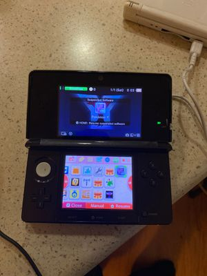 Nintendo 3ds with downloaded games (Pokemon crystal , Pokemon Y , Animal Crossing for Sale in Sacramento, CA