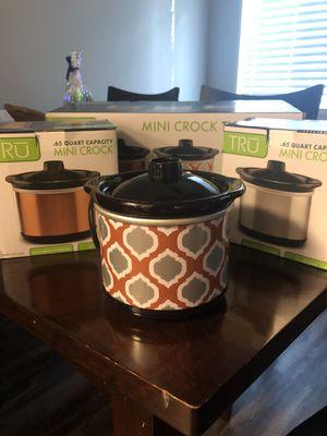 3 Mini Crock pot for Sale in Murfreesboro, TN