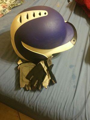 Baseball batting helmet with batting gloves for Sale in Jacksonville, FL