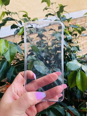 Brand new cool iphone 7+ or 8+ PLUS case cover rubber Clear transparent see through mens women's guys girls for Sale in San Bernardino, CA
