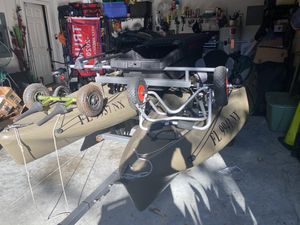 2 Hobie Outback kayaks with trailer and Torqeedo electric motors for Sale in Ocoee, FL