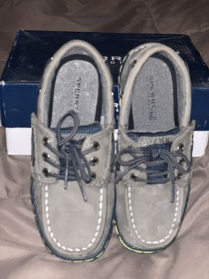 Brand new, in box, size 11M, Boys, Grey (Gray) Sperry Topsider Boat Shoes for Sale in Plantation, FL