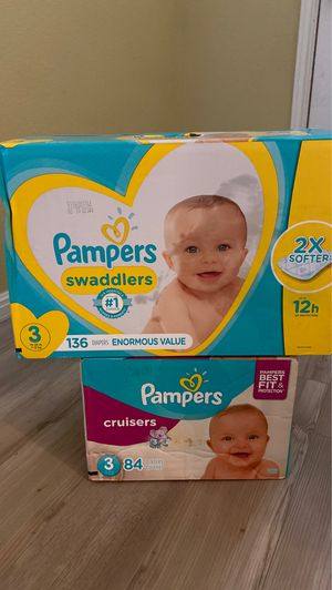 Size 3 pampers bundle for Sale in Austin, TX