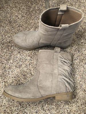 Taupe Fringe Booties for Sale in Bakersfield, CA