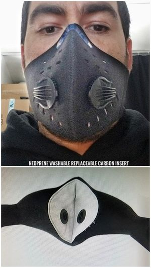 2 pcs. Black neoprene running mask (not for medical use) for Sale in Brooklyn, NY