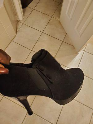 Black bootie heels size 9 1/2 for Sale in FL, US