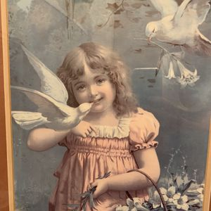 Young Girl with Bird Print for Sale in Rancho Santa Margarita, CA