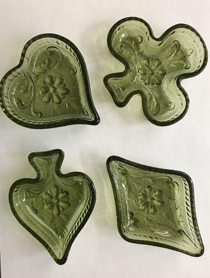 Green Poker Set of 4, Heart, Club, Diamond, Spade for Sale in Lakeland, FL