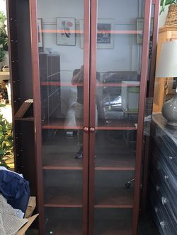 IKEA Glass Door Cabinet / Shelf Very Good Condition for Sale in Santa Ana,  CA
