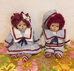 Raggedy Ann and Andy Dolls Porcelain Faces Vintage for Sale in AZ, US