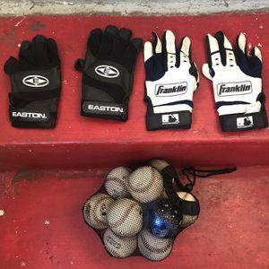 Men's Batting Gloves/ Baseballs for Sale in Los Angeles, CA