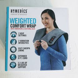 NEW Homedics Weighted Comfort Wrap Massage Vibration Heated Shoulder Blanket for Sale in Seattle,  WA