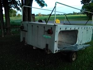 1961 alpache boy scout camping trailer 4 roomy compartments made out of aluminium for Sale in Owosso, MI