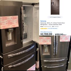 NEW OUT OF BOX SAMSUNG TUSCAN STEEL FOUR DOOR REFRIGERATOR for Sale in Mission Viejo,  CA
