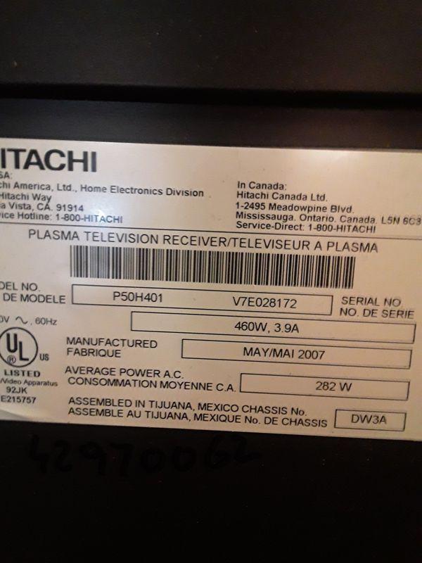 "Hitachi 55"" Plasma TV"