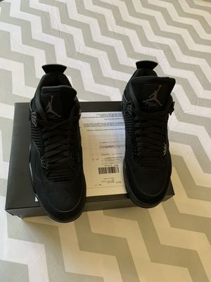 Brand new men's air Jordan retro 4 black cat 10.5 price is firm NO TRADES for Sale in The Bronx, NY