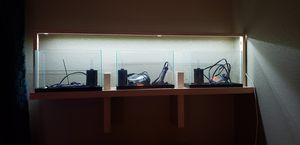 3, 2.5 gallon rimless aquariums with wall mounted shelf and dimmable LED light for Sale in March Air Reserve Base, CA