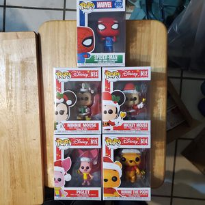 Disney, Spiderman Christmas Funko Pop set for Sale in Jurupa Valley, CA