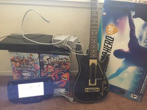 Nintendo Wii U console and Guitar Hero Live for Sale in Bloomington, CA