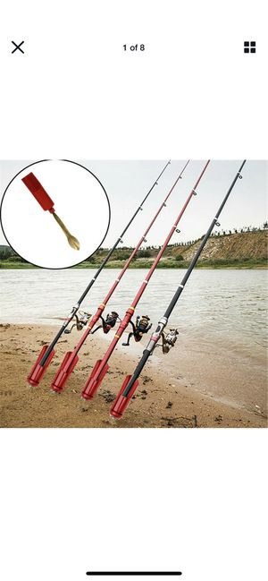 Fishing rod standard pole holder insert ground ajustable for Sale in Richmond, CA