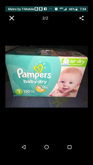 Pampers baby dry (1) 120 diapers brand new for Sale in Atlanta, GA