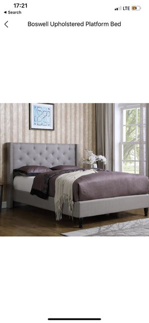 Brand new king size grey bed frame for Sale in Livonia, MI