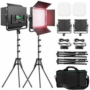 Pixel RGB LED Photography Lighting 2 Packs Full Color Video Panels Black for Sale in Hialeah, FL