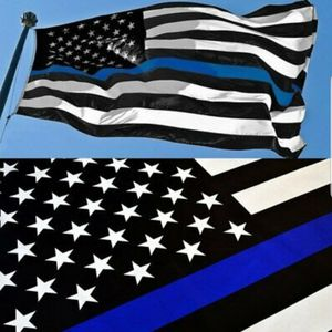 New 3x5' USA Thin Blue Line Police Lives Matter Law Enforcement American US Flag for Sale in La Mirada, CA