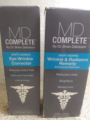 MD complete anti-aging system radiance renewal cream and eye wrinkle corrector serum $40 for Sale in Las Vegas, NV